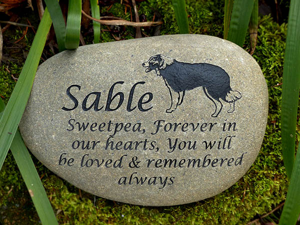 Border Collie Pet Memorial