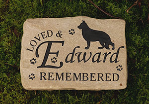 Custom Sandstone Pet Memorial