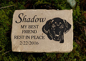 Black Lab Pet Memorial