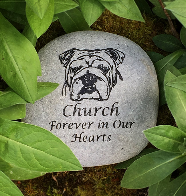 English Bulldog Pet Memorial