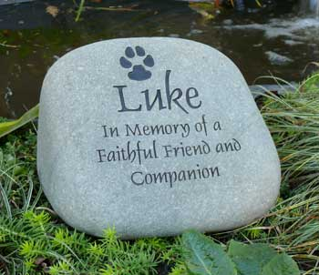 Dog Paw Pet Memorial