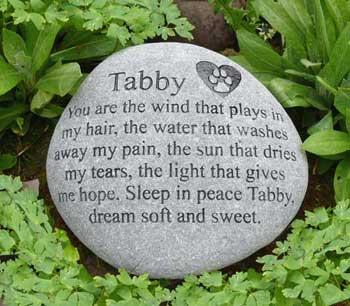 Cat Paw in Heart Pet Memorial
